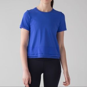 Lululemon Blue Sole Training Short Sleeve Top| 8